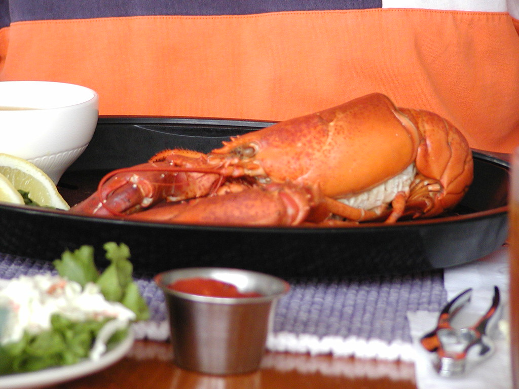 Lobster with goey green stuff inside