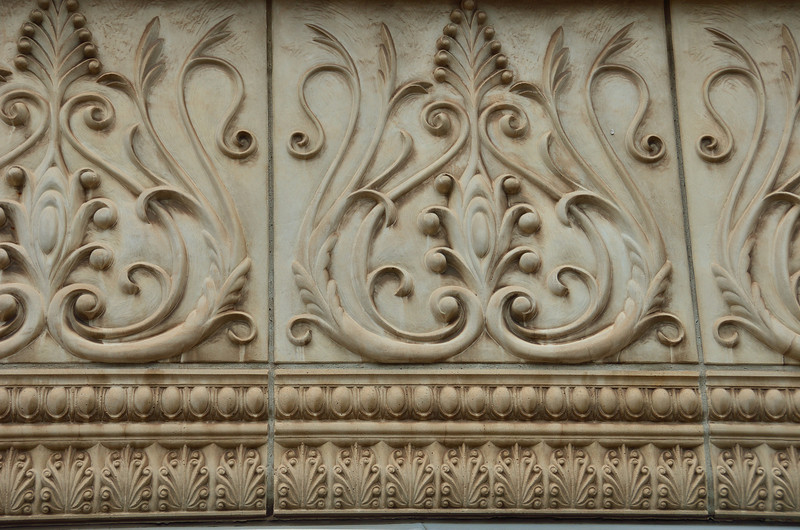 Unique architectural elements grace the buildings in downtown Holland.