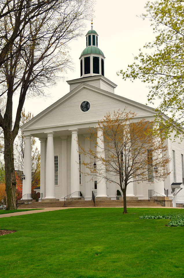 Founded by the Reverend Albertus VanRaalte, Pillar Church was dedicated in 1856. This Greek Revival building is listed on the National Historic Register and is one of the few buildings to have survived the devastating fire of 1871 in Holland.