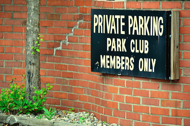 Exclusive membership required at the Park Club