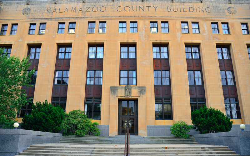 Kalamazoo's third County Building was finally completed and dedicated in 1937