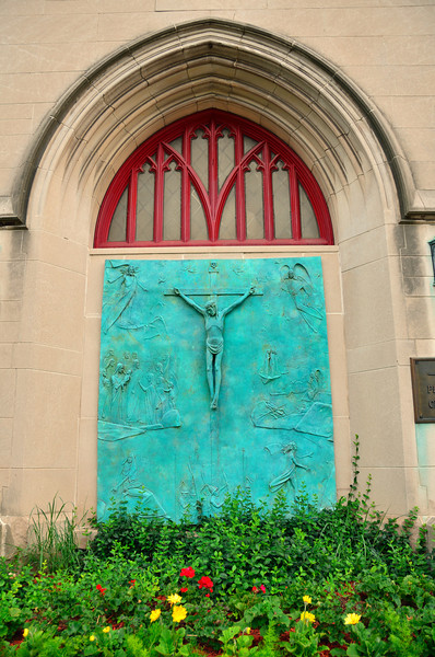 Art work on the First Presbyterian Church of Kalamazoo