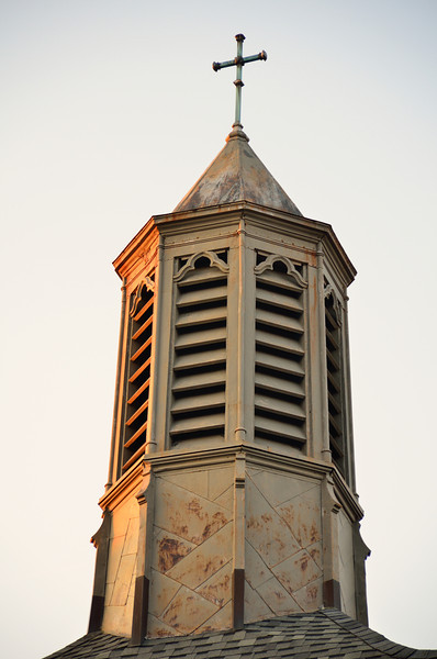 Steeple of St. Augustine Cathedral in Kalamazoo.