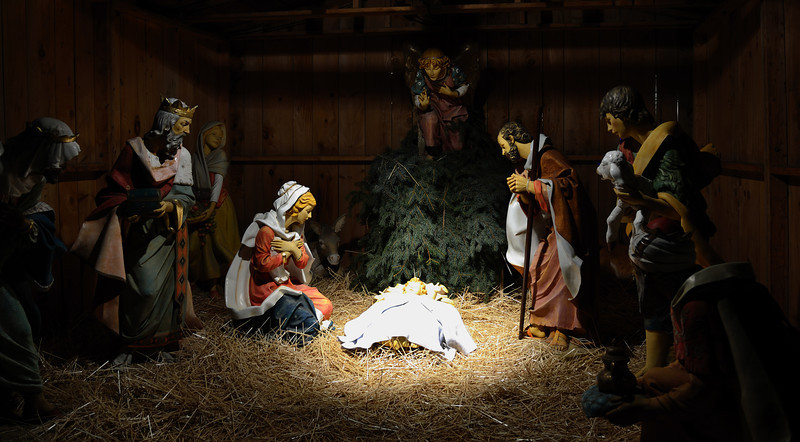 The Manger Scene in Bronson Park reminds us all the reason that we celebrate Christmas is the birth of Jesus Christ our Saviour