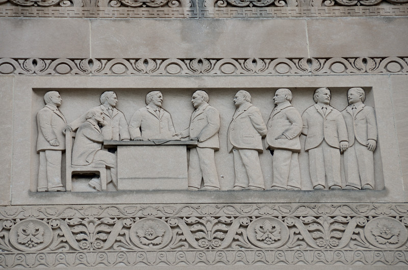 Carving on City Hall