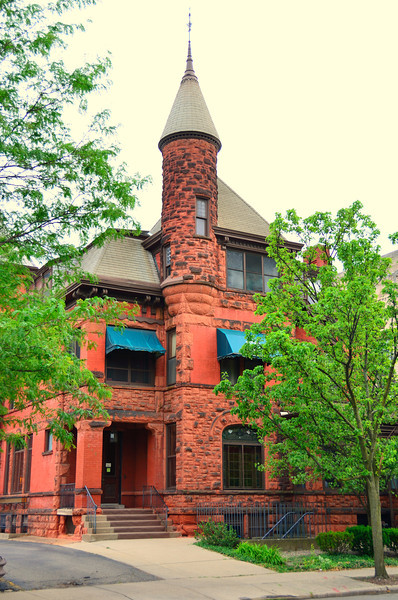 """During the last quarter of the 19th century, when Kalamazoo was called """"the most elegant town in the Midwest,"""" it had three men's clubs: the Kalamazoo, the Academy, and the Cosmopolitan. On February 22, 1904, the three clubs merged and because they immediately purchased the former Nathaniel Balch Home on the corner of Rose and South streets facing Bronson Park, they named their new organization the Park Club."""