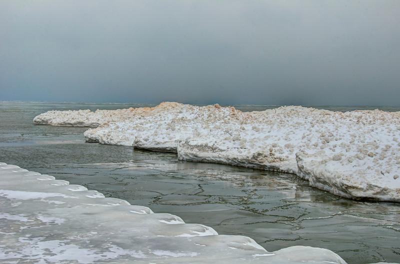 Ice Buildup on North Beach