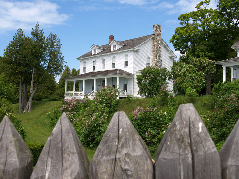 Restored house next to Fort Mackinac.