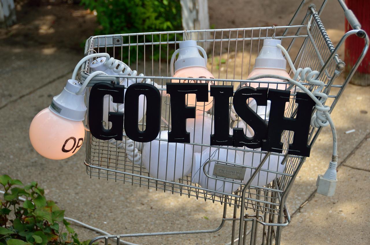 Unique sign for shop