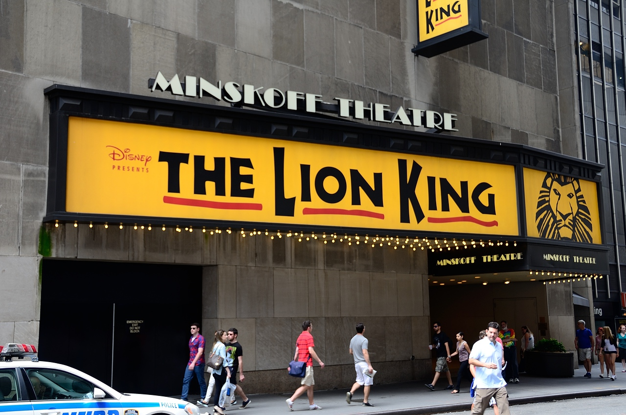 We saw The Lion King at the Minskoff Theatre