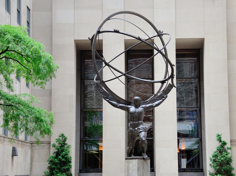 Hercules Statue at Rockefeller Center