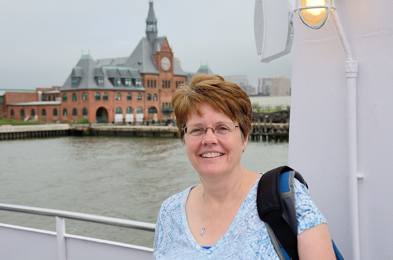Karen on Statue of Liberty Boat Cruise