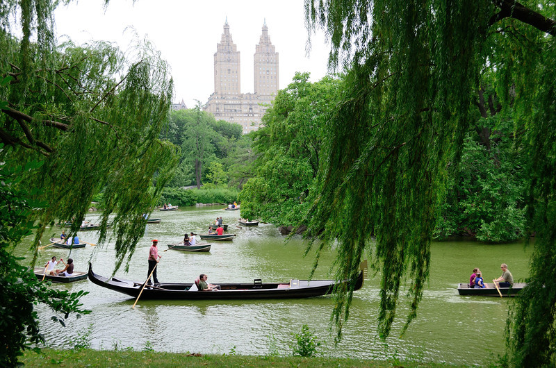 Gondola on The Lake in Central Park