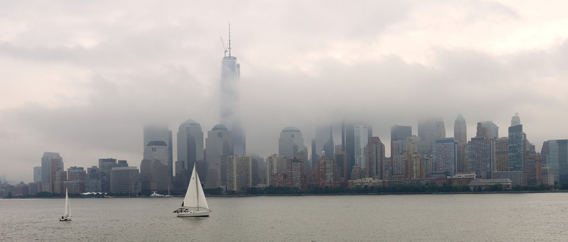 Manhattan in Morning Fog