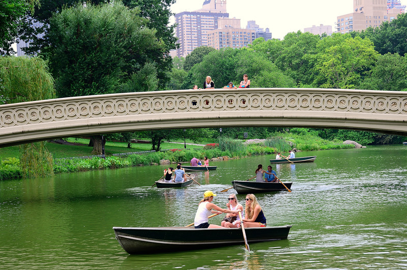 Boaters on The Lake in Central Park