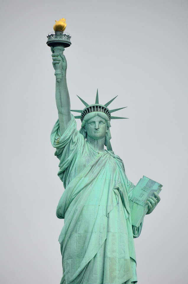 Auguste Bartholdi constructed the Statue of Liberty in 1875