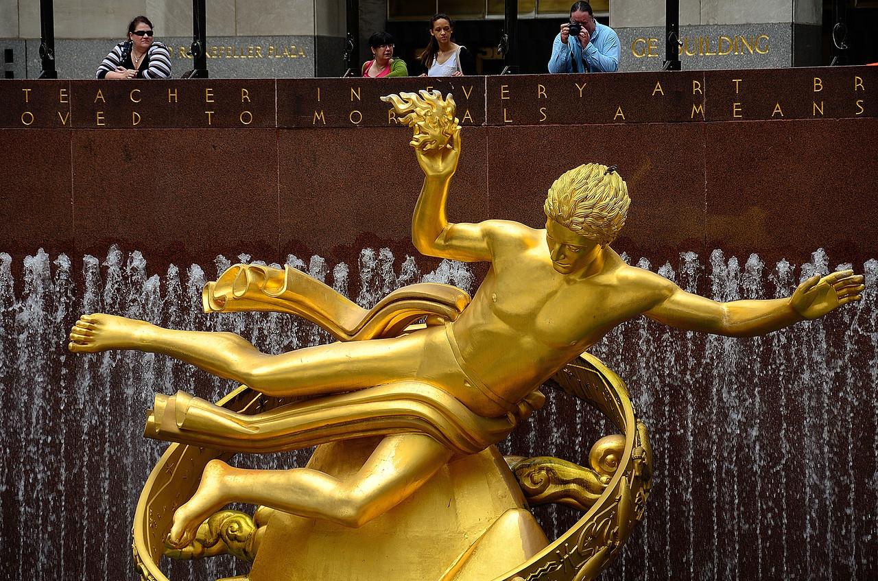Statue of Prometheus at Rockefeller Center