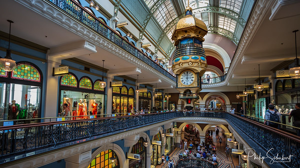 Interior of the Queen Victoria Building in Sydney.