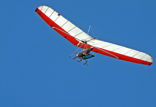 Red and White Dual Hang Glider