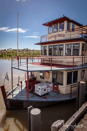 Murray Bridge, Australia - Nov 7 2012: Traditional paddle steamer cruises on the Murray River  are popular with tourists and many operate daily services from major centres on the Murray River.