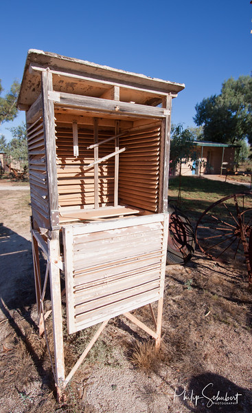 Every 3 hours, 7 days a week  the readings had to be made in this Stevenson Screen. It dominated the live of all who lived at Hamelin Pool or the nearby homestead.