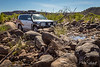 Crossing the Pentecost River in 4WD at El Questro Station, Kimberley, Western Australia