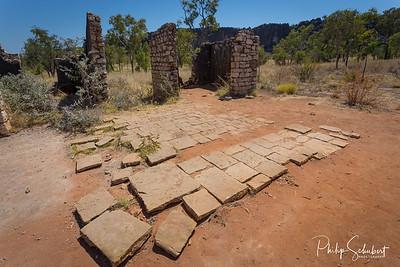 Lillimooloora Police Station Ruins in the Windjana Gorge National Park, Kimberley, Western Australia