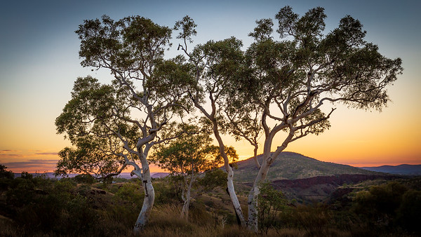 Sunset over the Hamersleys, Karijini National Park, Western Australia