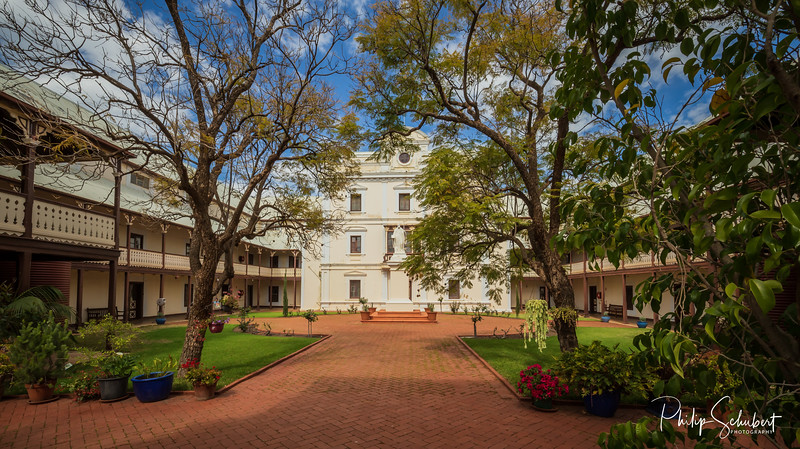 New Norcia, WA, Australia - Sep 9 2019: The Monastry in Australia's only monastic town run by Benedictine Monks. Nine monks are resident and manage the monastic town.