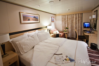 Premium Balcony Cabin - Evening turndown service.
