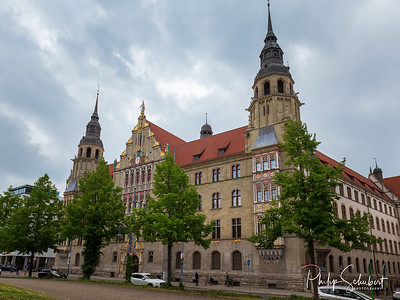 The Rathaus in the Marketplatz, Halle