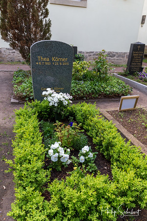 The Grave of Thea Koerner in the cementary in