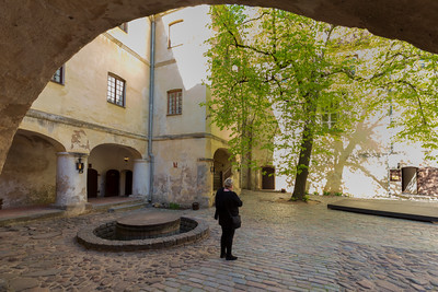 Museum and Internal Courtyard - Jaunpils Castle, Latvia