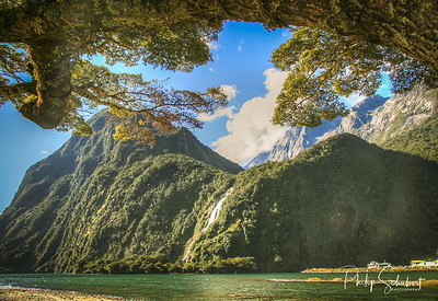 """In the Fjordland National Park in the South West of the South Island of New Zealand, Milford Sound is the jewel in the crown of a spectactular and rugged region that attracts tourist from all over the World. Accessable by road, aircraft and cruise ship the Sound is one of the """"must see"""" places in the World."""