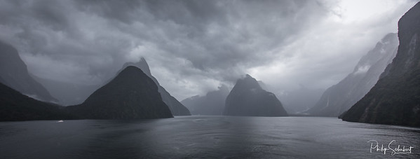 Stormy Day - Milford Sound, Fjordland, New Zealand