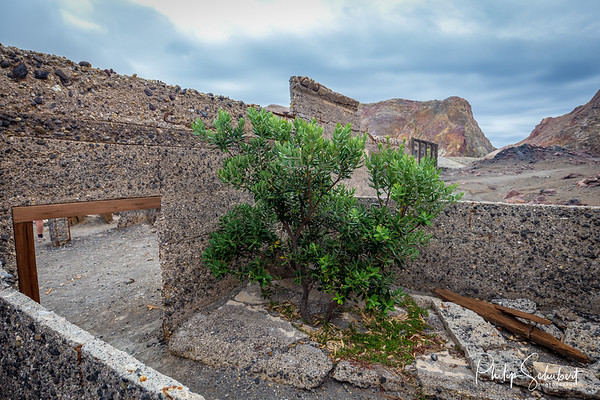 Ruins of Sulphur Processing Plant on White Island Active Volcano - New Zealand