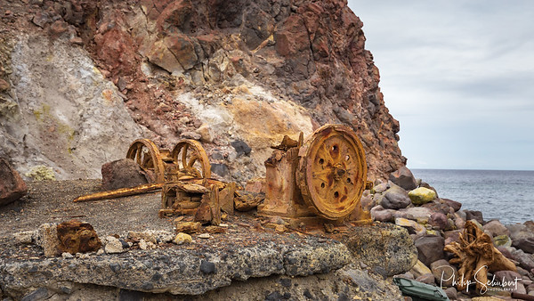 Ruins of Mining Equipment on White Island Active Volcano - New Zealand