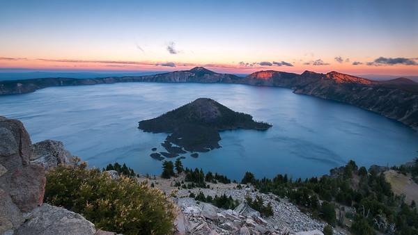 Crater Lake Sunset from Watchman Peak