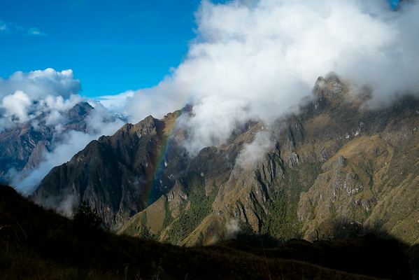 Rainbow over the Andes after the rain