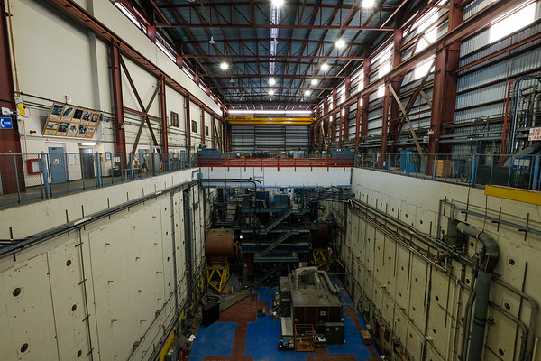 The decommissioned Large Detector facility where a large collider chamber was used to smash positrons and find the building blocks of atoms