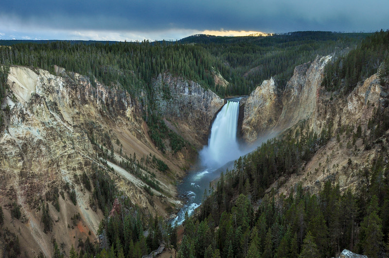 Lower Falls & Yellowstone Grand Canyon from Red Rock Point