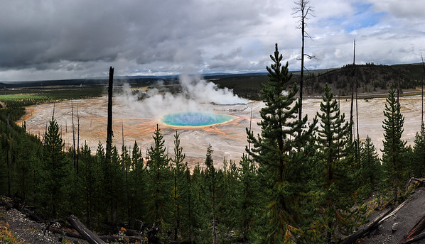 Mid Geyser Basin from Fairy Falls Trail