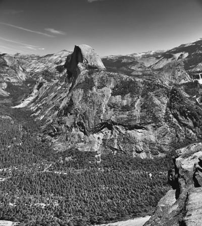 Half Dome & Yosemite Valley, Black & White