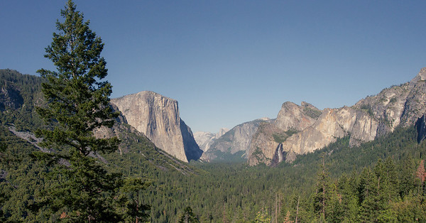 Yosemite Valley, Tunnel View during the day
