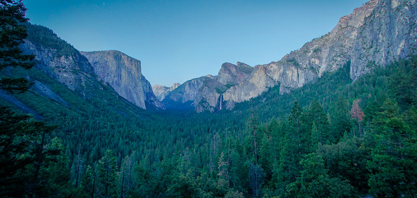 Night Falls Over Yosemite Valley
