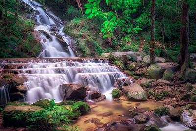 """Peaceful Waterfall"" @ Mae Kampong (Thailand)"