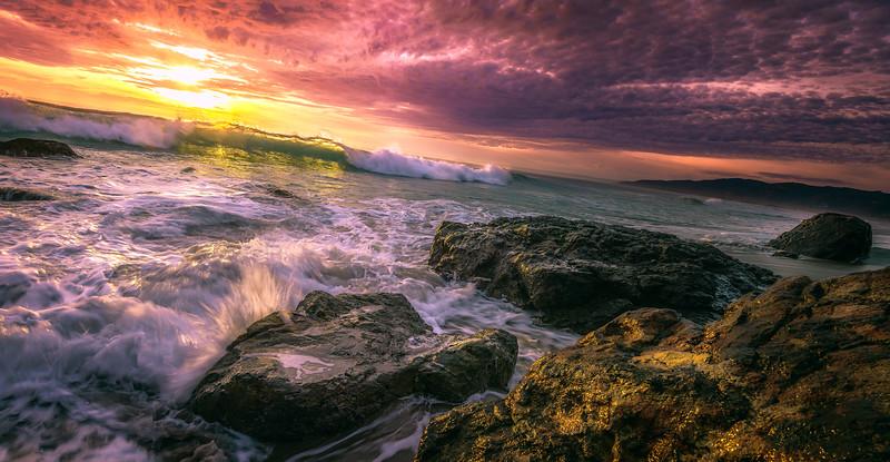 """Light Wave"" @ Point Dume (Zuma Beach, California)"
