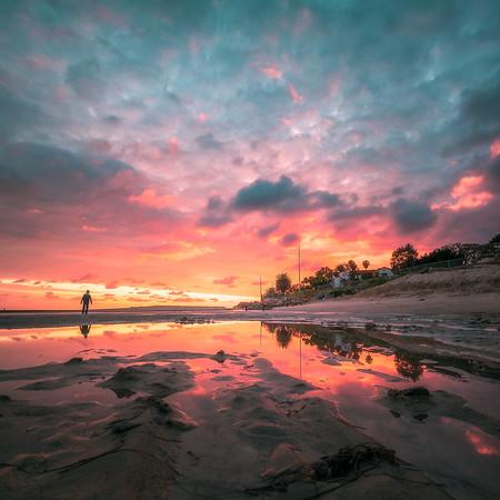 """Reflections"" @ Malibu Beach (California)"