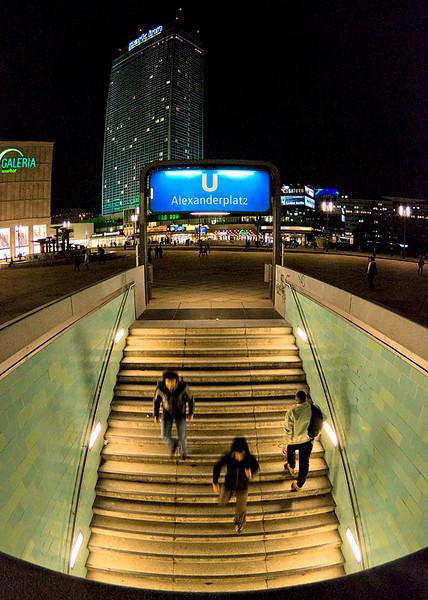 Entrance to subway at Alexanderplatz