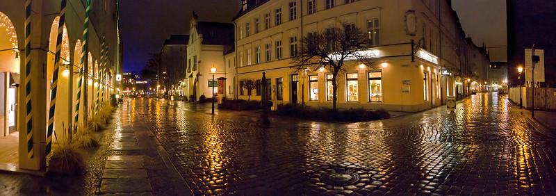 At St. Nicholas Quarter at night